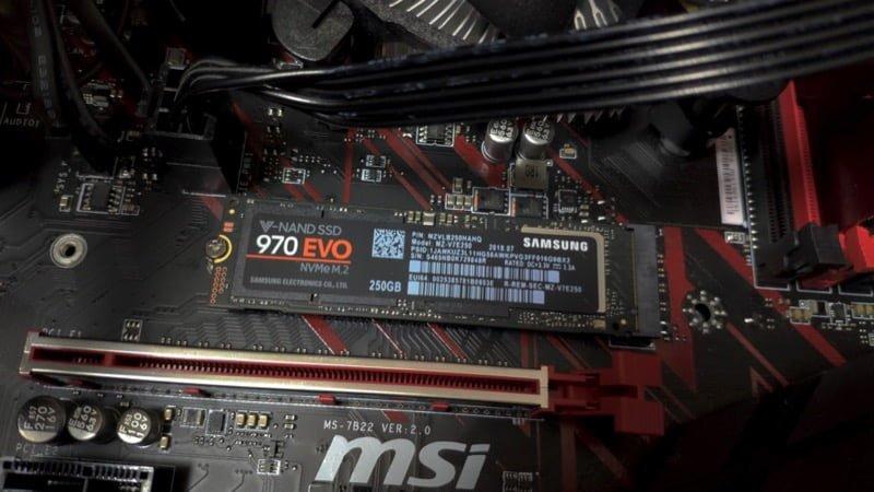 【実機レビュー】高速のNVMe型SSDを自作PCに装着してみた Samsung EVO 970