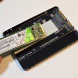 【実機レビュー】M.2SATA-SSDを2.5インチケースに取り付ける|余らせてしまった方におすすめ
