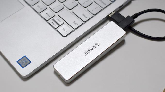 【実機レビュー】爆速SSDを携帯するコンパクトケース!ORICO USB-C NVME M.2 SSDケース (PCM2)